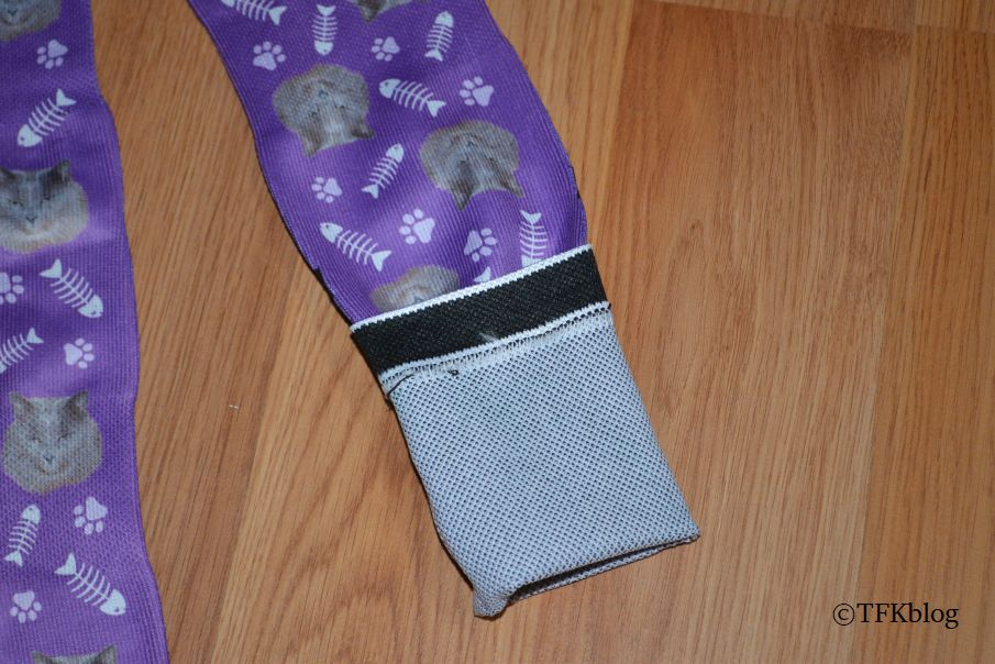 Looking at the inside of a custom printed sock from Socksery